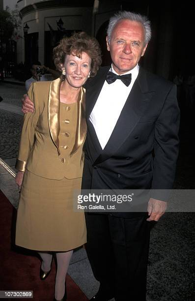 Jennifer Lynton and Anthony Hopkins during 6th Annual BAFTA Awards at Beverly Wilshire Hotel in Beverly Hills California United States