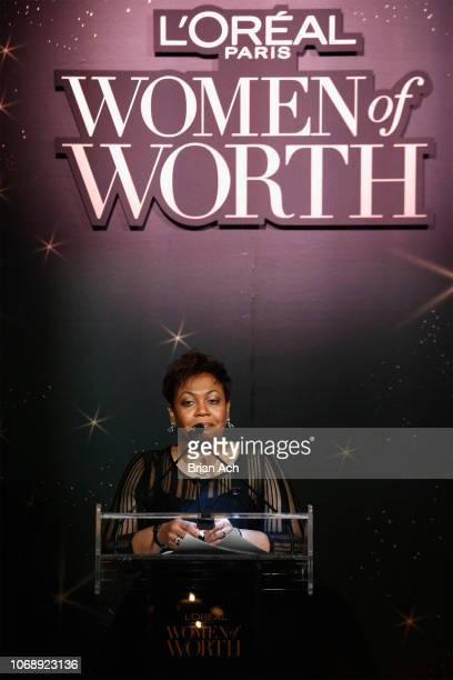 Jennifer Maddox speaks onstage at the L'Oréal Paris Women of Worth Celebration at The Pierre Hotel on December 5 2018 in New York City