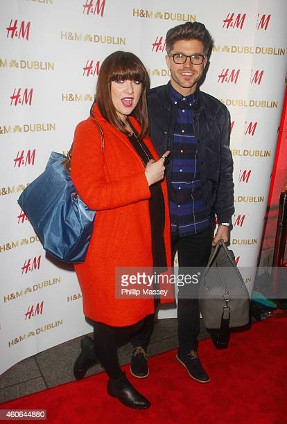 Jennifer Maguire and Darren Kenney attend the opening of the irish flagship HM store on December 18 2014 in Dublin Ireland