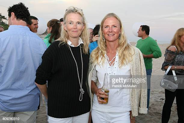 Jennifer Maguire and Gigi Mortimer attend LINDA WELLS and CHARLIE THOMPSON's Annual Clambake at Old Town Beach on July 21 2007 in Southampton NY