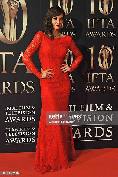 Jennifer Maguire attends the Irish Film and Television Awards at Convention Centre Dublin on February 9 2013 in Dublin Ireland