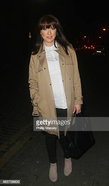 Jennifer Maguire attends the opening of the Bow Street Academy for Screen Acting on February 17 2015 in Dublin Ireland