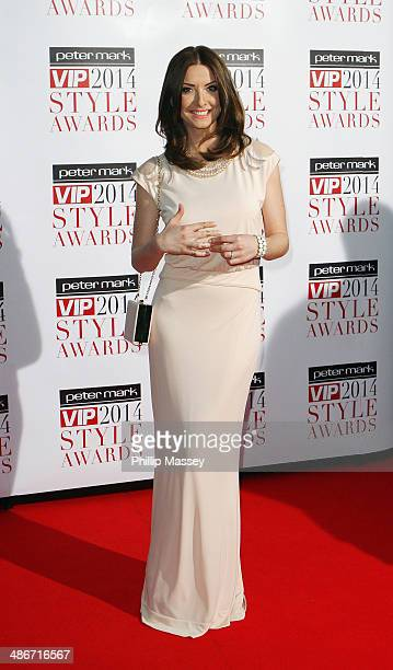 Jennifer Maguire attends the Peter Mark VIP Style Awards at Marker Hotel on April 25 2014 in Dublin Ireland