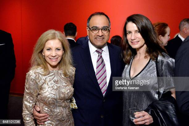 Jennifer Maguire Ravi Rajan and Catharine Soros attend 2017 REDCAT Gala Honoring Janet Dreisen Rappaport and John Baldessari on March 4 2017 in Los...