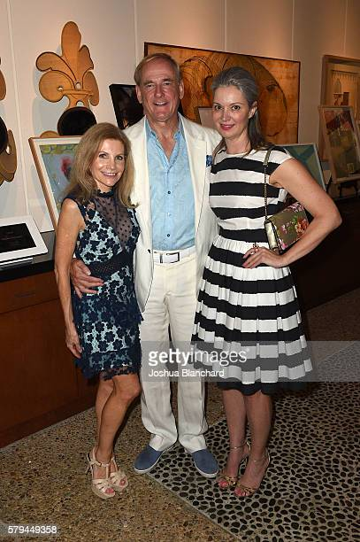 Jennifer Maguire Stephen Maguire and Sarah Gavlak attend LAND's 2016 Benefit Auction Midsummer Fete at Private Residence on July 23 2016 in Los...