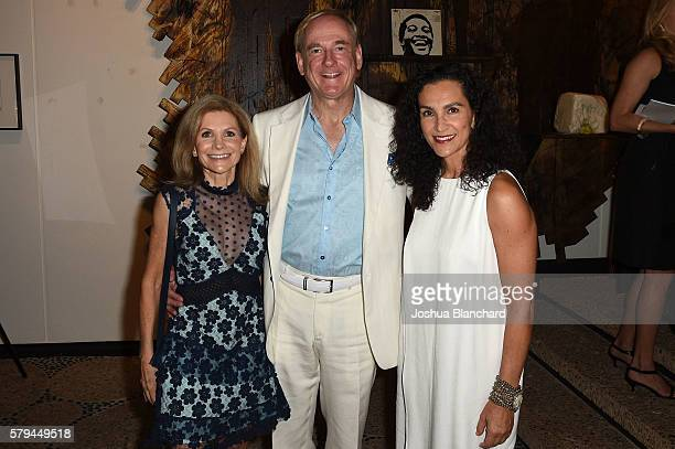 Jennifer Maguire Stephen Maguire and Shulamit Nazarian attend LAND's 2016 Benefit Auction Midsummer Fete at Private Residence on July 23 2016 in Los...
