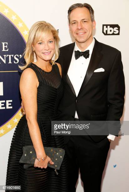 Jennifer Marie Brown and Jake Tapper attends Not the White House Correspondents' Dinner presented by Full Frontal With Samantha Bee at DAR...