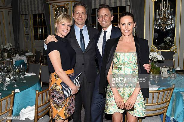 Jennifer Marie Brown Jake Tapper Seth Meyers and Alexi Ashe Meyers attend the Museum of the Moving Image honoring Netflix Chief Content Officer Ted...