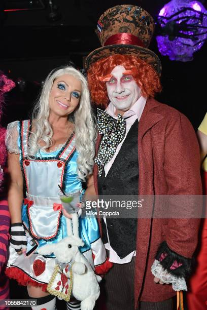 Jennifer Mazur and Kevin Mazur attend Heidi Klum's 19th Annual Halloween Party presented by Party City and SVEDKA Vodka at LAVO New York on October...