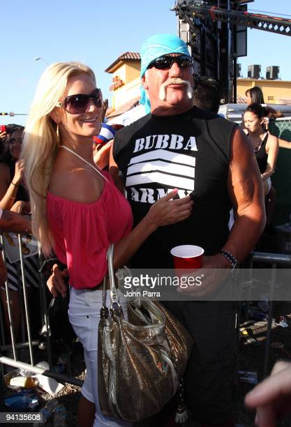 Jennifer McDaniel and Hulk Hogan arrive to see Brooke Hogan perform at Calle Ocho on March 15 2009 in Miami