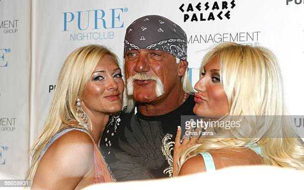 Jennifer McDaniel Hulk Hogan and Brooke Hogan attend Brooke Hogan's 21st Birthday At Pure Nightclub on May 5 2009 in Las VegasNevada