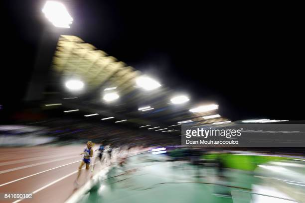 Jennifer Meadows of Great Britain competes in 1500m Womens Final during the AG Memorial Van Damme Brussels as part of the IAAF Diamond League 2017 at...