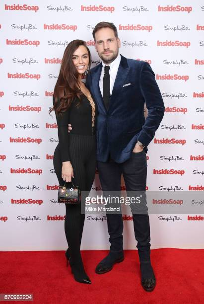 Jennifer Metcalfe and Greg Lake attend the Inside Soap Awards held at The Hippodrome on November 6 2017 in London England