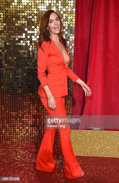Jennifer Metcalfe arrives for the British Soap Awards 2016 at the Hackney Town Hall Assembly Rooms on May 28 2016 in London England