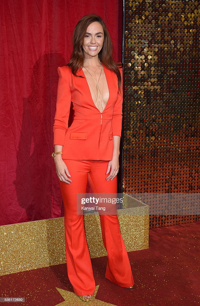 Jennifer Metcalfe arrives for the British Soap Awards 2016 at the Hackney Town Hall Assembly Rooms on May 28, 2016 in London, England.