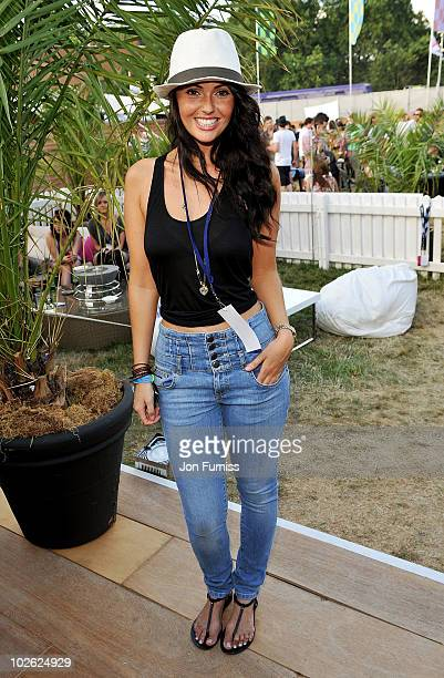 Jennifer Metcalfe attends day 2 of the Barclaycard Wireless Festival at Hyde Park on July 3 2010 in London England