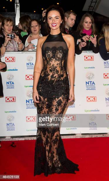 Jennifer Metcalfe attends the National Television Awards at 02 Arena on January 22 2014 in London England