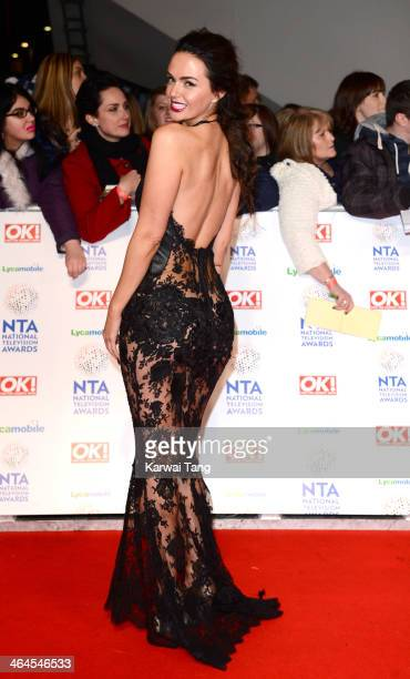 Jennifer Metcalfe attends the National Television Awards at the 02 Arena on January 22 2014 in London England