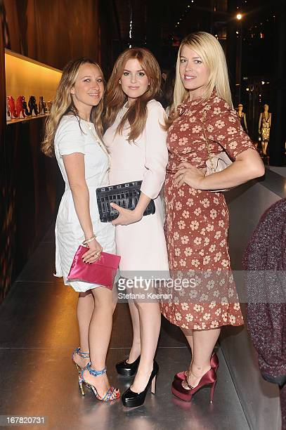Jennifer Meyer actress Isla Fisher wearing Prada and Amanda de Cadenet attend Catherine Martin And Miuccia Prada Dress Gatsby Opening Cocktail on...
