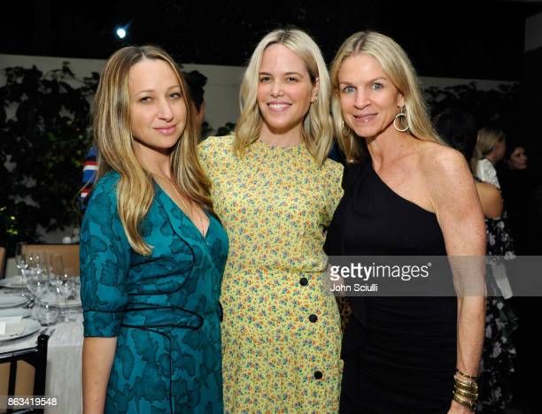 Jennifer Meyer Ali Wise and Crystal Lourd attend THE OUTNET x Amber Valletta at Waldorf Astoria Beverly Hills on October 19 2017 in Beverly Hills...