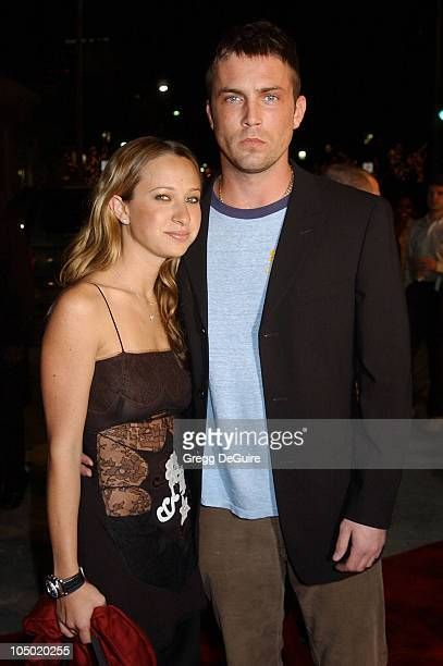 Jennifer Meyer and Desmond Harrington during Ghost Ship Los Angeles Premiere at Mann Village Theatre in Westwood California United States