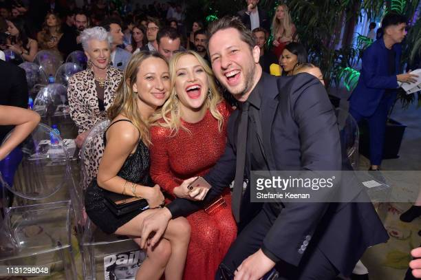 Jennifer Meyer Kate Hudson and Derek Blasberg attend The Daily Front Row Fashion LA Awards 2019 on March 17 2019 in Los Angeles California