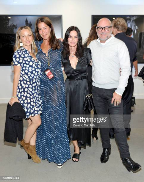 Jennifer Meyer Lyndie Benson Courteney Cox and celebrity floral and fragrance designer Eric Buterbaugh attend the private opening of Sascha von...
