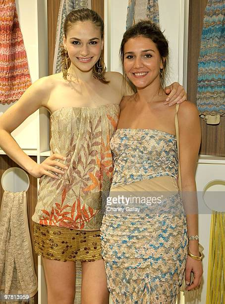 Jennifer Missoni and Margherita Missoni attend the Missoni Beverly Hills store opening held at Missoni Beverly Hills on March 17 2010 in Beverly...
