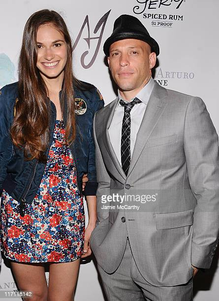 Jennifer Missoni and tattoo artist and TV personality Ami James attend the grand opening Wooster Street Social Club on June 22 2011 in New York City