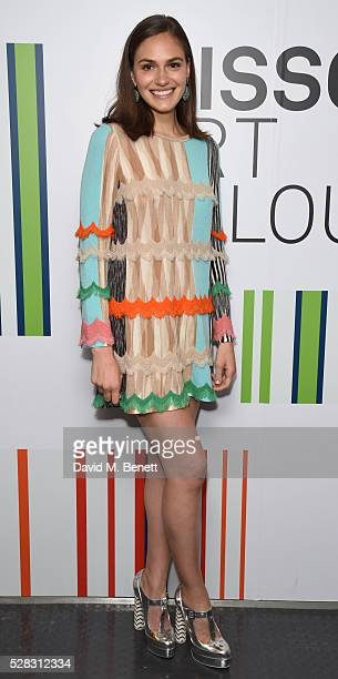 Jennifer Missoni attends the 'Missoni Art Colour' private view and dinner in partnership with Woolmark at The Fashion and Textile Museum on May 4,...