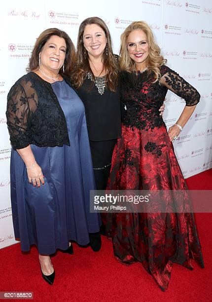Jennifer Morgen actress Camryn Manheim and Red Star Ball CoChair Dina Leeds attend the American Friends of Magen David Adom's Red Star Ball at The...