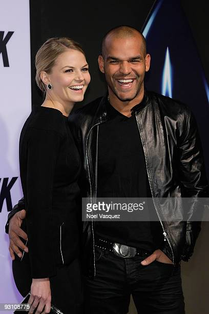 Jennifer Morrison and Amaury Nolasco attend the Star Trek DVD and BluRay release party at the Griffith Observatory on November 16 2009 in Los Angeles...