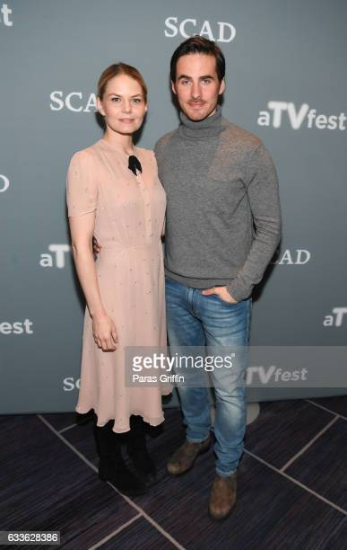 Jennifer Morrison and Colin O'Donoghue attend 5th Annual aTVfest at Four Seasons Hotel on February 2 2017 in Atlanta Georgia