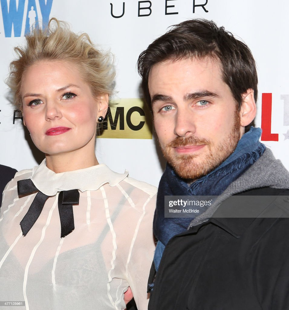Jennifer Morrison and Colin O'Donoghue attend 'All The Way' opening night at Neil Simon Theatre on March 6, 2014 in New York City.