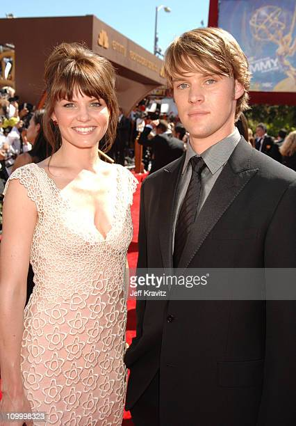 Jennifer Morrison and Jesse Spencer during 58th Annual Primetime Emmy Awards - Red Carpet at The Shrine Auditorium in Los Angeles, California, United...