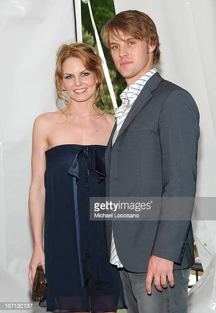 Jennifer Morrison and Jesse Spencer during The 2007/2008 Fox Upfronts Arrivals at Wollman Rink Central Park in New York City New York United States