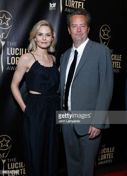 Jennifer Morrison and Matthew Perry attend 32nd Annual Lucille Lortle Awards at NYU Skirball Center on May 7 2017 in New York City