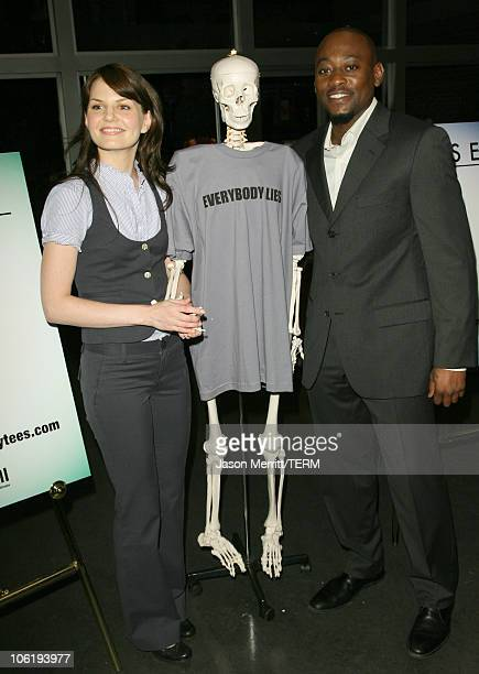 Jennifer Morrison and Omar Epps during 'House' Announces Creation of Exclusive 'Houseism' Tees at 20th Century Fox Lot in Los Angeles California...
