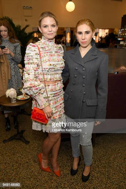 Jennifer Morrison and Zosia Mamet attend the CHANEL Tribeca Film Festival Women's Filmmaker Luncheon at Odeon on April 20 2018 in New York City
