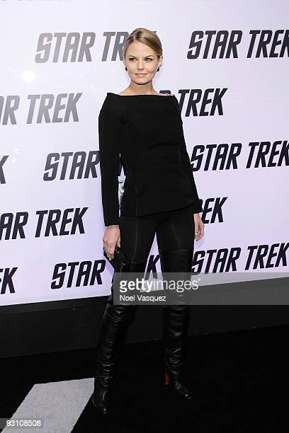 Jennifer Morrison attends the Star Trek DVD and BluRay release party at the Griffith Observatory on November 16 2009 in Los Angeles California