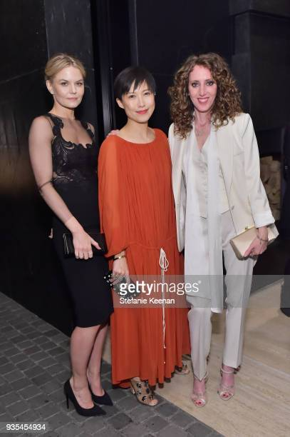 Jennifer Morrison Jimmy Choo Creative Director Sandra Choi and Jen Rade attend The Hollywood Reporter and Jimmy Choo Power Stylists Dinner on March...