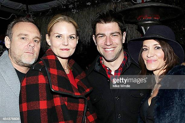 Jennifer Morrison Max Greenfield and Tess Sanchez attend Geoff Stults and Ari Sandel's Holiday Party with elit by Stolichnaya on December 7 2013 in...