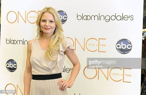 Jennifer Morrison star of ABC's Once Upon a Time attends Bloomingdale's 59th Street Store on September 27 2012 in New York City
