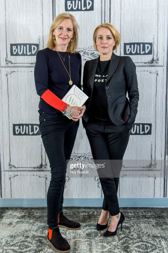 Jennifer Nadel and Gillian Anderson discuss 'We: A Manifesto For Women Everywhere' with the Build Series at Build Studio on March 13, 2017 in New York City.