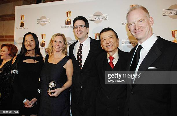 Jennifer Nelson Melissa Cobb Mark Osborn James Hong and John Stevenson attend the 36th Annual ASIFA's Annie Awards at Royce Hall At UCLA on January...