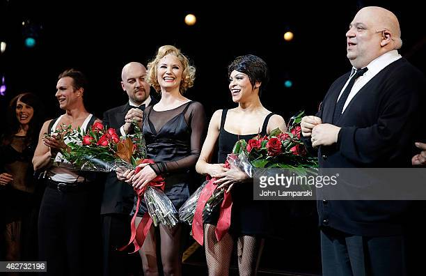 Jennifer Nettles and Carly Hughes join Broadway's Chicago Curtain Call at Ambassador Theatre on February 3 2015 in New York City