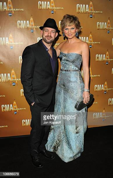 Jennifer Nettles and Kristian Bush of Sugarland attend the 44th Annual CMA Awards at the Bridgestone Arena on November 10 2010 in Nashville Tennessee