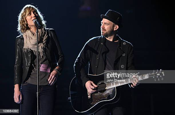 Jennifer Nettles and Kristian Bush of Sugarland onstage at the 51st Annual GRAMMY Awards rehearsals held at Staples Center on February 5 2009 in Los...