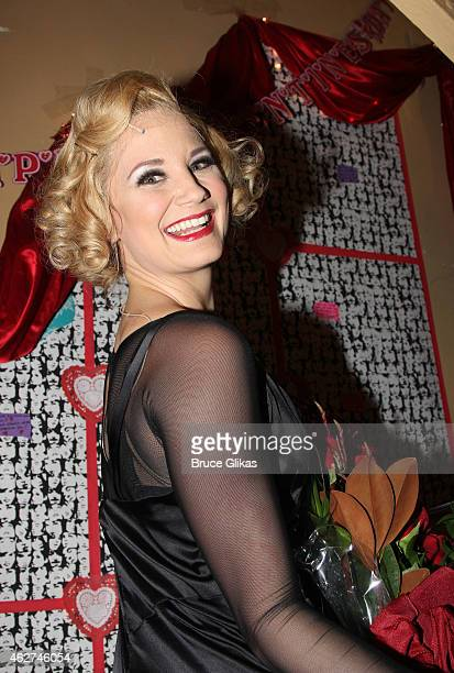 """Jennifer Nettles as """"Roxie Hart"""" poses backstage on Jennifer Nettles and Carly Hughes Opening Night performance in """"Chicago"""" on Broadway at The..."""