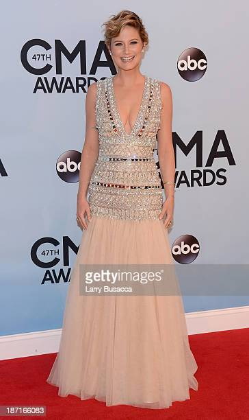 Jennifer Nettles attends the 47th annual CMA Awards at the Bridgestone Arena on November 6 2013 in Nashville Tennessee